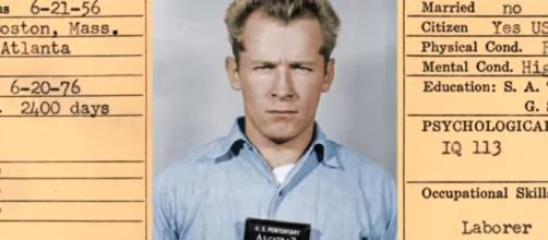 Mobster James Joseph 'Whitey' Bulger was beaten with a padlock in a sock. [Image Source: AlcatrazHistory - YouTube]