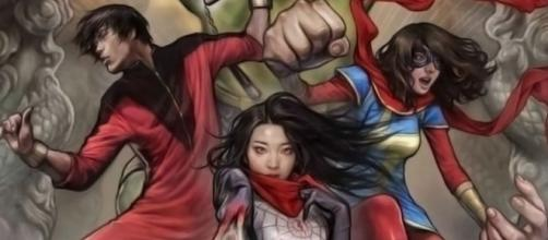 Shang-Chi, Kamala Khan e Silk são alguns dos heróis asiáticos da Marvel.