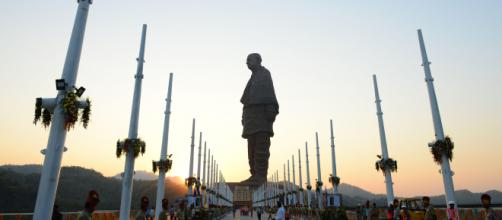 World's Tallest Statue Unveiled In India: (Image via NDTV screencap)