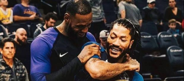 Derrick Rose says it was awkward playing with LeBron James [Image by lebron.king.james / Instagram]