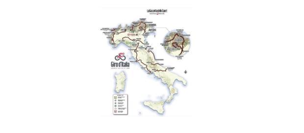 Le nord de l'Italie sera cette fois privilégié avec 3518 km prévus.