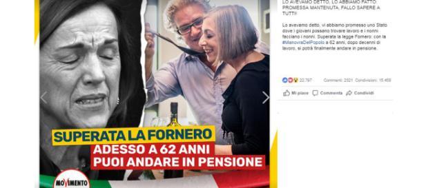 Pensioni, Di Maio su abolizione Fornero: 'Promessa Mantenuta, in pensione dai 62 anni'