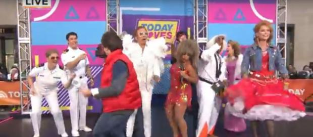 The 2018 Halloween Today show had every host having fun in the 80s. [Image source:TODAY-YouTube]