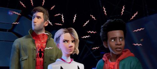 Peter Parker, Gwen Stacy e Miles Morales.