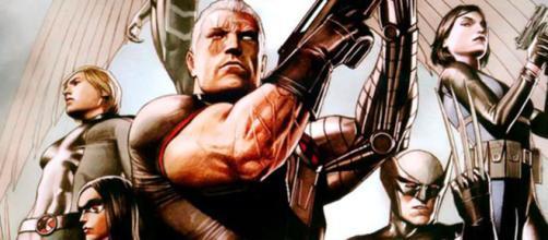 X-Force, entre os membros: Cable, Domino e Wolverine. (Foto reprodução).