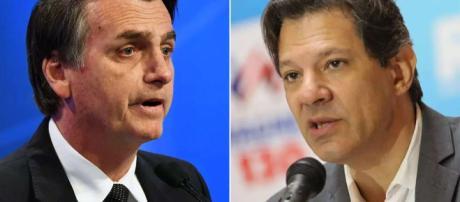 Eleições 2018: Bolsonaro e Fernando Haddad.
