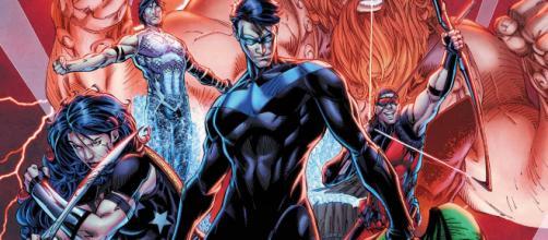 A formação dos Titãs após o renascimento da DC.