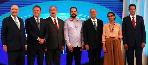 Foi o último debate entre os candidatos antes do primeiro turno. (foto reprodução).