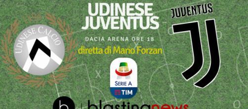 Il cartellone di blastingnews per la diretta di Udinese e Juventus
