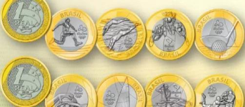 Imagem ilustrativa das moedas comemorativas das Olimpíadas. (foto reprodução).