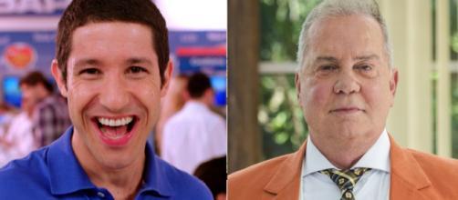 Luiz Fernando e Fabiano, dois famosos que se assumiram gays(Montagem)
