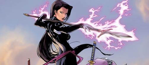 Psylocke, uma das telepatas mais poderosas da Marvel.