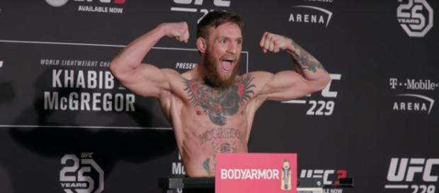 Conor McGregor and UFC champion Khabib Nurmagomedov will fight in the main event of UFC 229. [Image via MMA Fighting/YouTube]