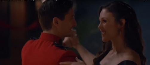 Birthdays are just one reason to smile for Daniel Lissing and Erin Krakow of When Calls the Heart. [Image source:WCTHFan-YouTube]