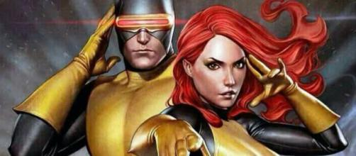 Ciclope e Jean Grey, um dos casais mais conhecidos dos quadrinhos.