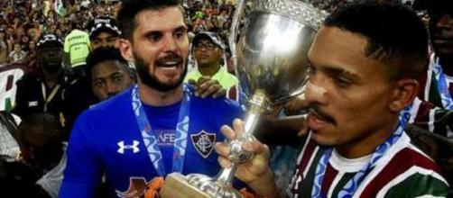 Júlio César e Gilberto devem ser os primeiros a renovarem contratos com o Fluminense (Foto: Maílson Santana)