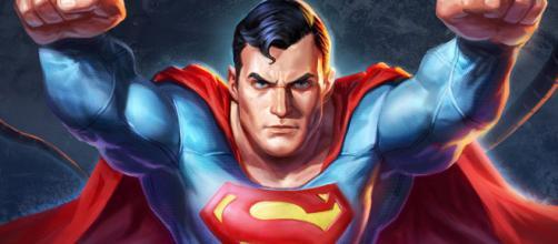 Superman com o uniforme clássico dos quadrinhos. (foto reprodução)