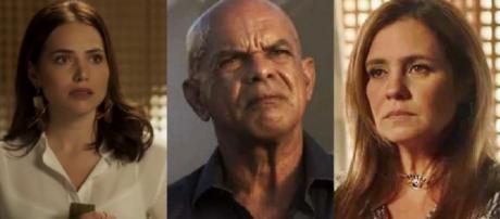 Galdino, Laureta e Rosa em Segundo Sol