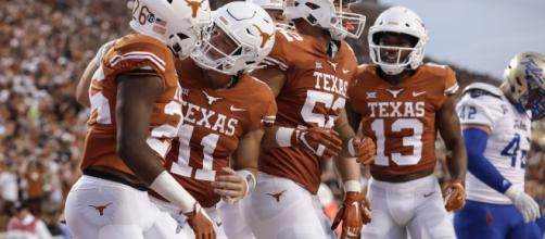 Texas Football is one of the biggest movers in this week's AP poll. [Image via hookemheadlines/YouTube]