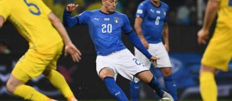Bernardeschi porta in vantaggio gli azzurri al 55'esimo (il BiancoNero)
