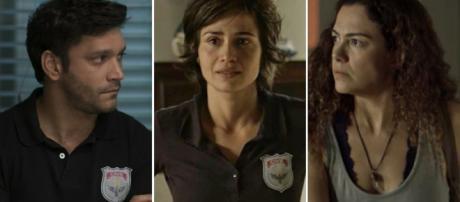 Maura, Selma e Ionan viverão relacionamento a três. (Foto: Divulgação TV Globo)