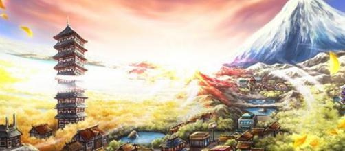 A região de Johto no mundo Pokémon.