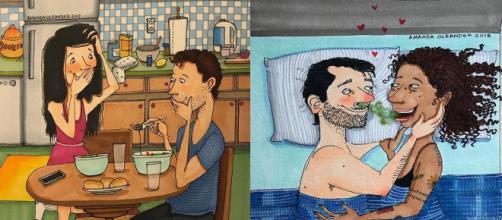 As ilustrações que mostram a realidade dos relacionamentos. (Foto: Reprodução Internet)