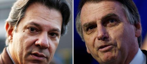 Bolsonaro critica visita de Haddad a Lula. (foto reprodução)