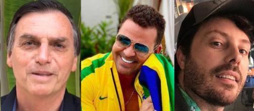 Danilo Gentili e Eduardo Costa apoiam Bolsonaro. (foto reprodução).