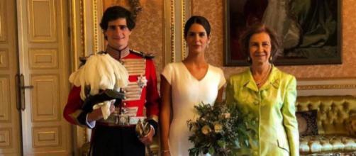La reina Sofía en la boda de los Alba