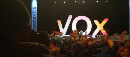 La ultraderecha española hace un alarde de fuerza en el Palacio de Vistalegre (Madrid)