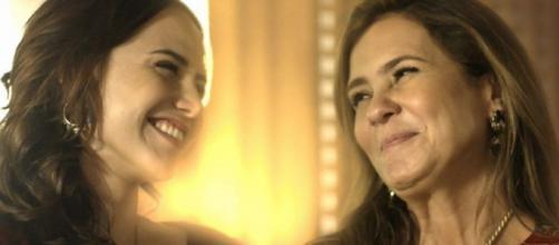 Rosa e Laureta em Segundo Sol participam de cena de sequestro. (foto reprodução).