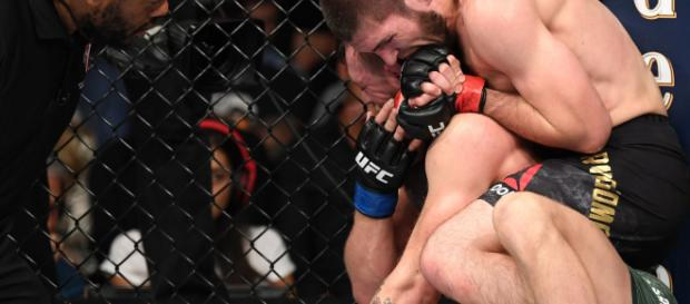 Khabib Nurmagomedov and McGregor at UFC 229 - Twitter/@UFC