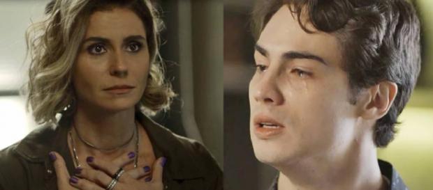 Luzia e Valentim, mãe e filho em Segundo Sol