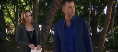 Laura and Valentin are part of the Cassadine mystery. (Image Source: General Hospital -YouTube.)