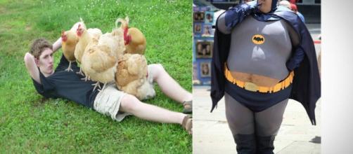 Fotos estranhas de pessoas na internet. (foto reprodução)