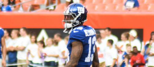 Odell lets everyone know its about him [image source: Erik Drost -Wikimedia Commons]