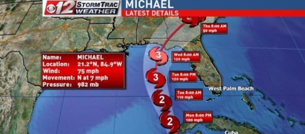 L'uragano Michael raggiungerà gli Stati Uniti domani