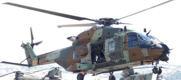 NH-90 Caimán despegando. Sus simuladores estan ahora conectados a los demás por el CESIHEL.