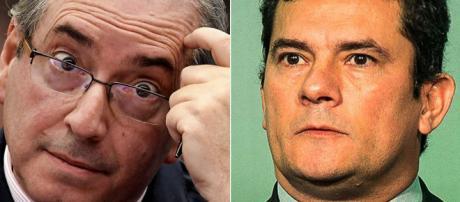 Deputado cassado Eduardo Cunha e juiz Sergio Moro