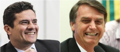 Moro e Bolsonaro se encontram no RJ. (foto reprodução).