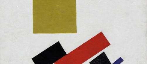 Suprematism by Kassimir Malevich, 1915 vs. Post-Impressionism [Image source: Wikipedia Commons]