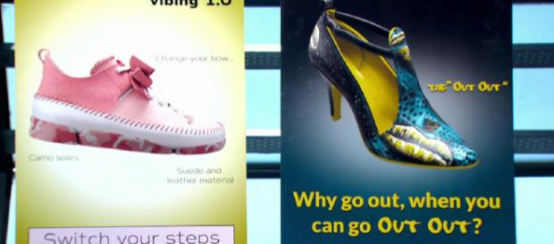 Cadidates design ladies shoes in newest Apprentice task (Image credit: iPlayer screen grab)