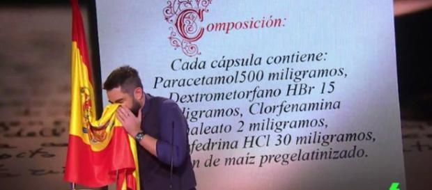 Dani Mateo pide disculpas por sonarse los mocos con la bandera de ... - bekia.es