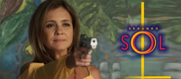 Laureta atira em Valentim, ao vê-lo salvando Rosa do cativeiro