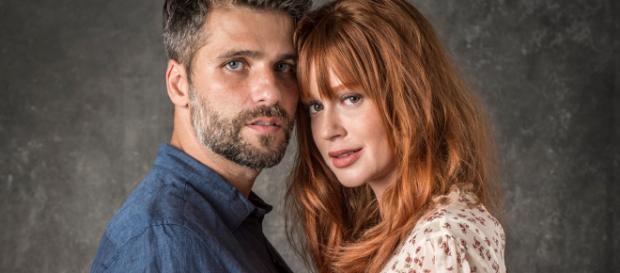 Luz da Lua e Gabriel serão o casal principal de O Sétimo Guardião (Foto: Divulgação/TV Globo)