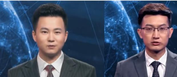 China's Xinhua agency unveils world's first AI news presenters in 2018. [Image source/The Telegraph YouTube video]