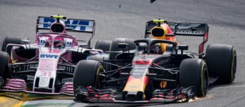 Acidente entre Oncon e Verstappen no GP de Fórmula 1 do Brasil
