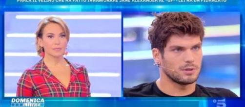 """Elia Fongaro a Domenica Live confessa: """"Con Jane Alexander non è amore"""""""