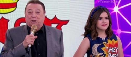 Raul Gil e Maísa geram climão no Teleton do SBT